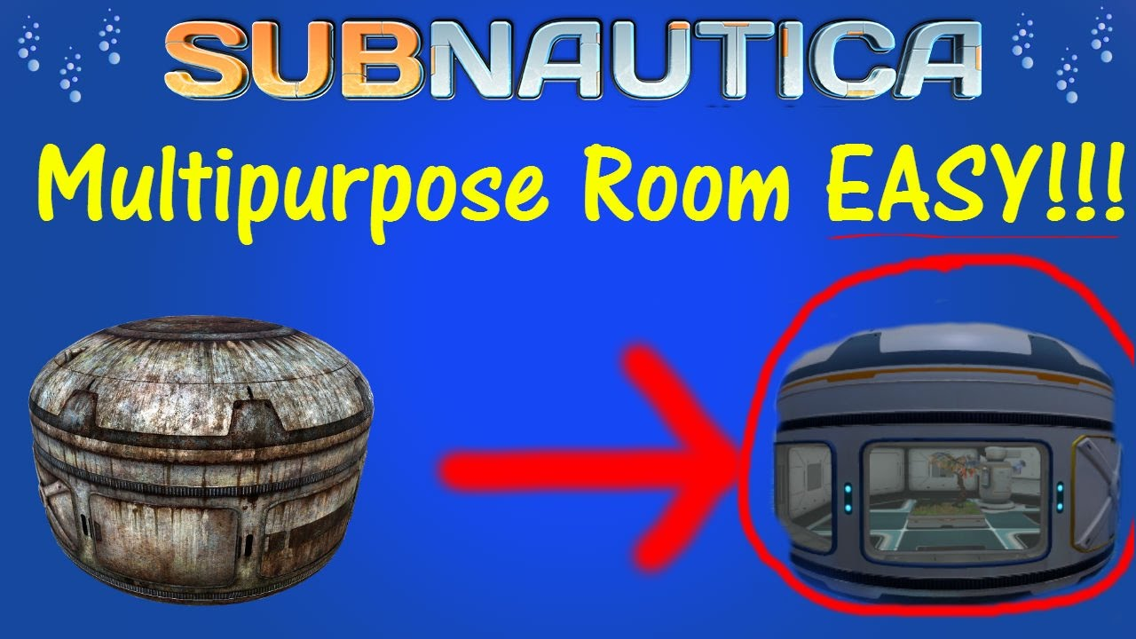 Subnautica how to get a multipurpose room blue prints and subnautica how to get a multipurpose room blue prints and construction tutorial malvernweather Image collections