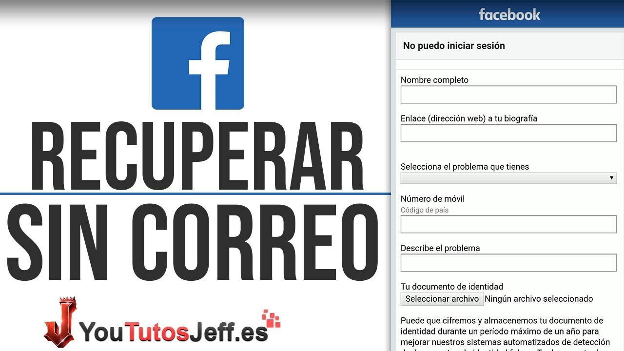 Recuperar Contraseña De Facebook Sin Correo Sin Telefono Y Sin Contraseña Desde Telefono Youtube