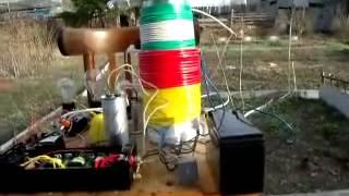 Бестопливный генератор в работе