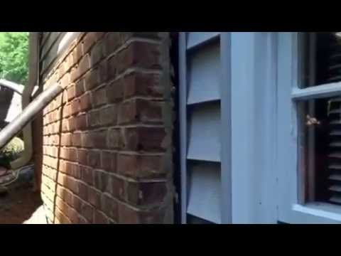 Jsa How To Push Back A Leaning Brick Veneer Wall Near