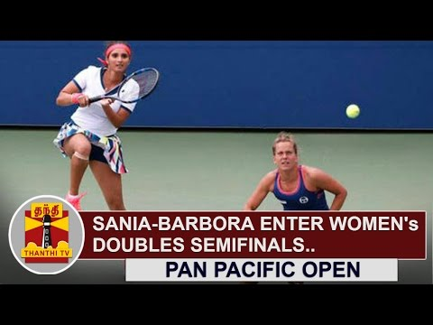 Sania Mirza-Barbora Strycova enter women's doubles Semi-finals in Pan Pacific Open