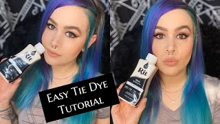 Easy Tie Dye Tutorial with Rit dye and items from around my house!
