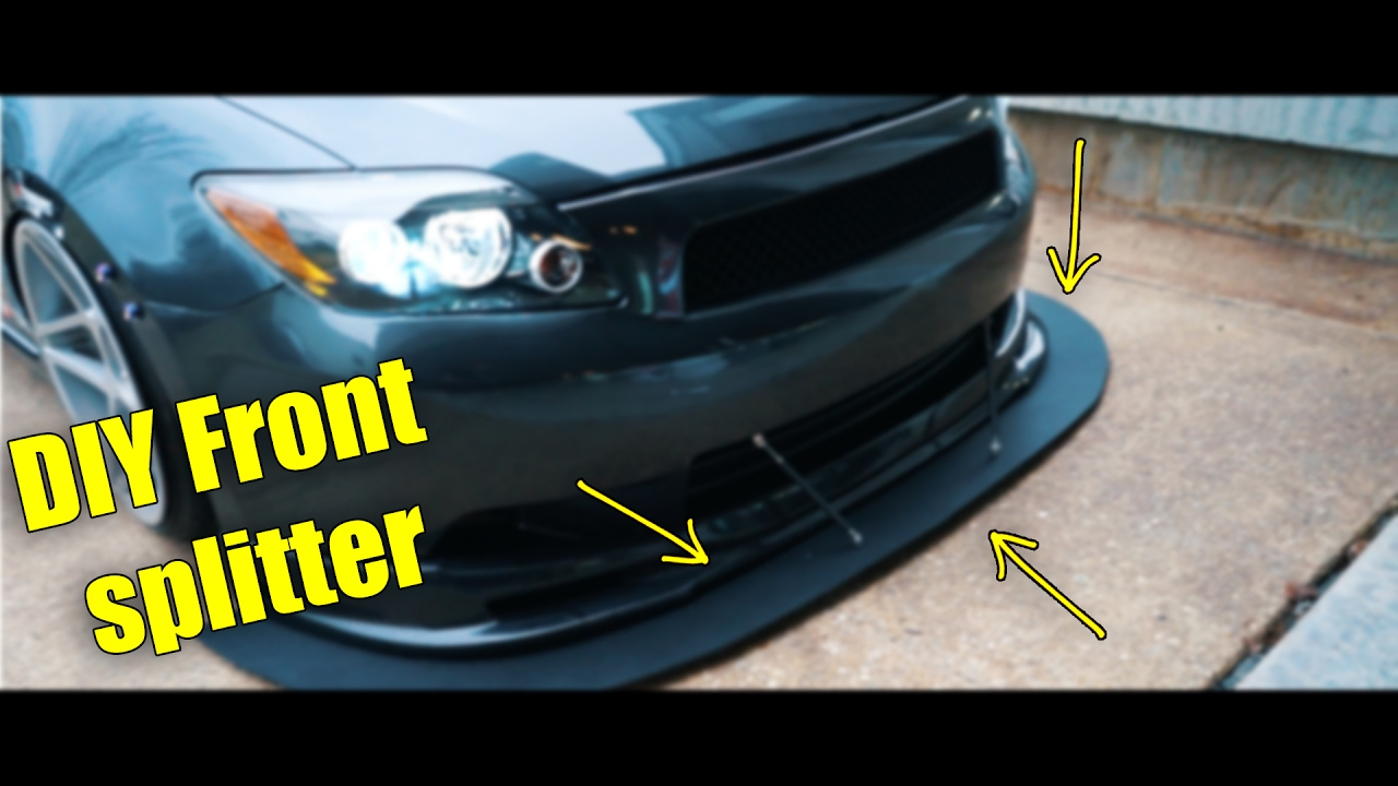 Diy How To Make A Front Splitter Youtube