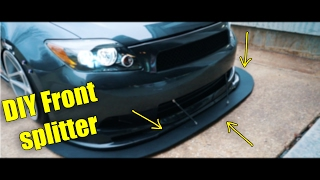 DIY how to make a front splitter