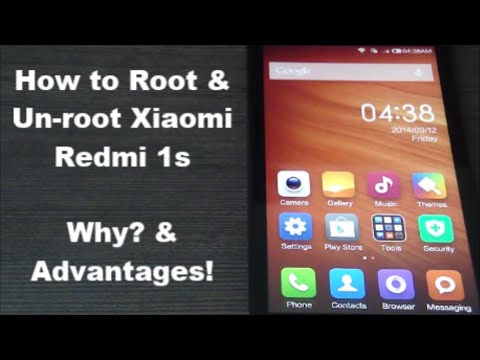 How to Root Xiaomi Redmi 1S - Why? Advantages! Un-root*