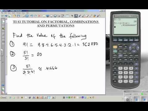 Ti Tutorial Combination Permutation Factorial