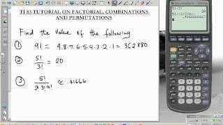TI 83 tutorial combination permutation factorial