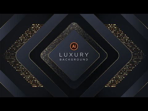 Luxury Background with Glitter Gold  illustrator Tutorial | Part 2 thumbnail