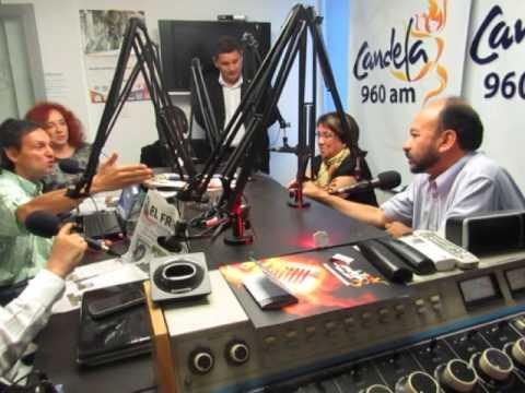 AÍDA AVELLA EN CANDELA RADIO. BUCARAMANGA, COLOMBIA.