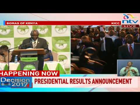 Breakdown of presidential results from 47 counties