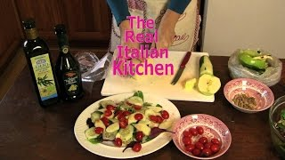 Vegetarian Recipe: Salad With Sheep Cheese, Green Apple, Pistachios - Real Italian Kitchen -
