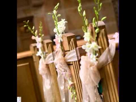 Simple diy wedding pew decorating ideas - YouTube