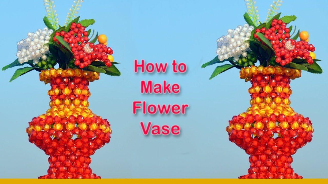 Download পুতির ফুলদানি || How to Make Beaded Flower Vase | Full Tutorial | Design 01