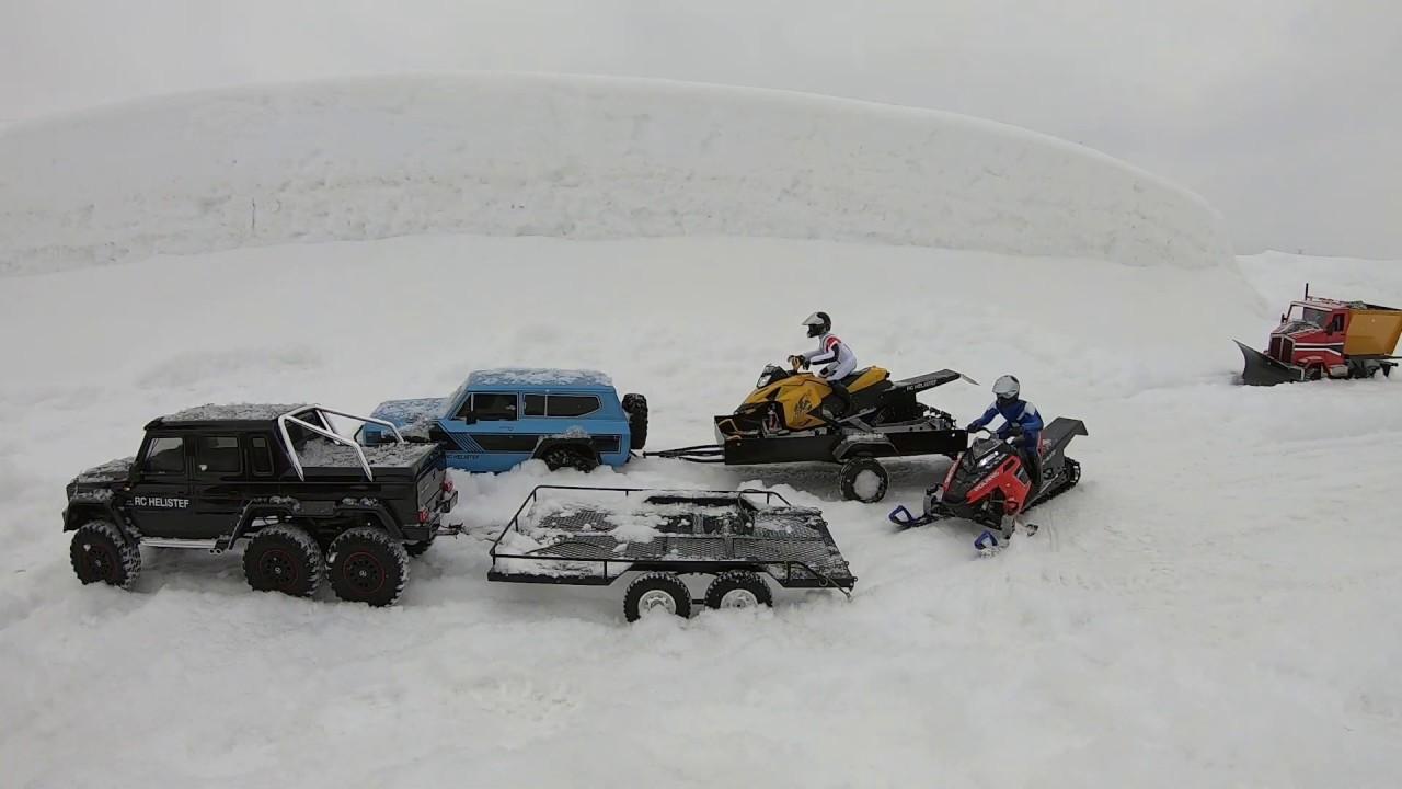 Rc snowmobile skidoo&polaris rush long track,rc TRX 6 ...