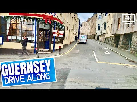 DRIVING In Guernsey Channel Islands - St Peter Port Town To St Martins🏝