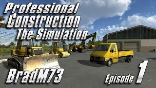 Professional Construction - The Simulation - Episode 1 - Game crashes...
