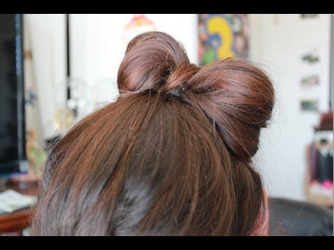 Heatless Up-do s  How to tie your hair into a bow! - YouTube 2e7159eb296