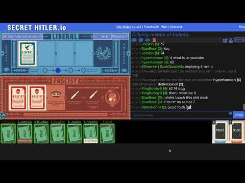 7P SECRET HITLER (Vanilla Fascist) \