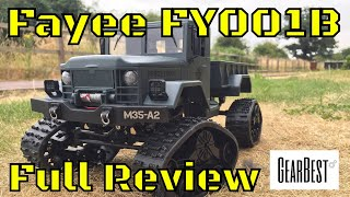 Fayee FY001 B Tracked RC Truck In depth Review Part 1. Gearbest not WPL B1 Snow Tracks