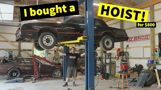 I Bought a Used Hoist for $800! | Installing a 2 Post Lift