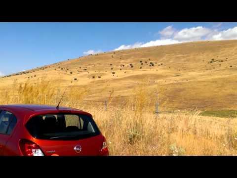 Roadtrippin' in Castilla y Leon province, Spain  - on a empty windy road enjoying the yellow scenery