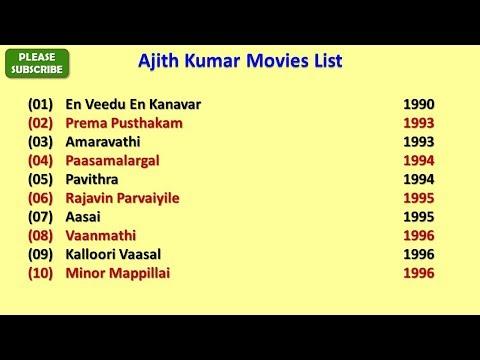 Ajith Kumar Movies List