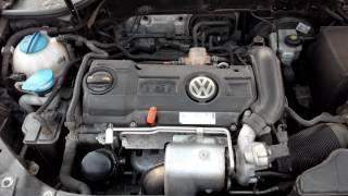 шум двигателя ДО замены цепи 1.4 tsi