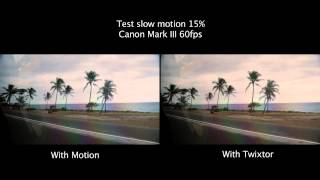 Slow motion Canon 5D Mark III 1000fps comparisons twixtor vs motion