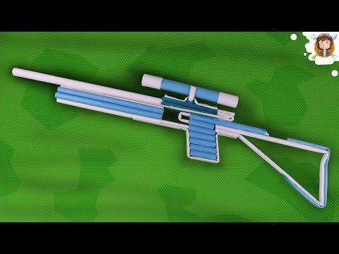 Como Hacer un Rifle Casero - (Sniper de Papel)