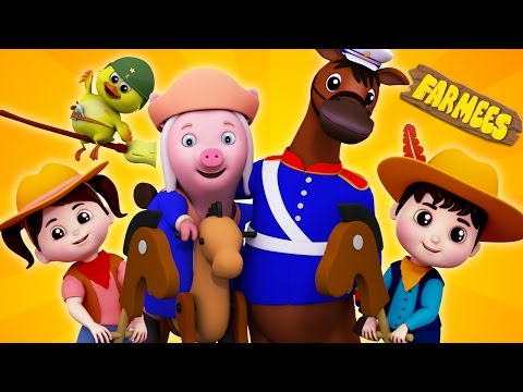 Yankee Doodle Went to Town | Nursery Rhymes | Baby Rhymes | Kids Songs by Farmees S02E58