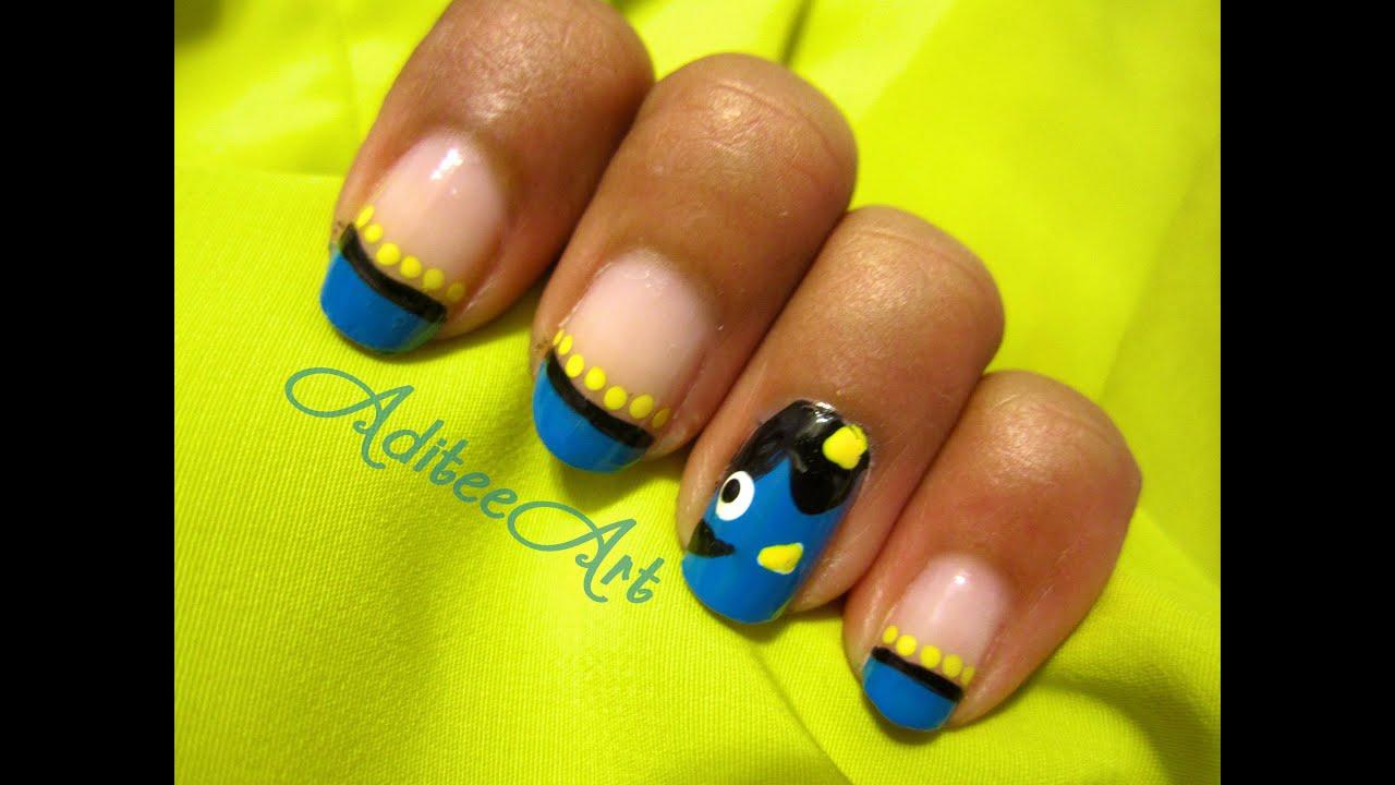 Talia Joy ❤ Inspired Dory Nails (Finding Nemo) - YouTube