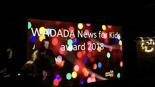 Live announcement of the WADADA News for Kids award 2018