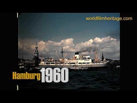 Hamburg 1960 - Hafen - Rathaus - City - Footage