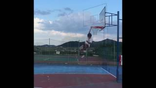 162cm ダンクに向けてリングジャンプ    dunk practice jump