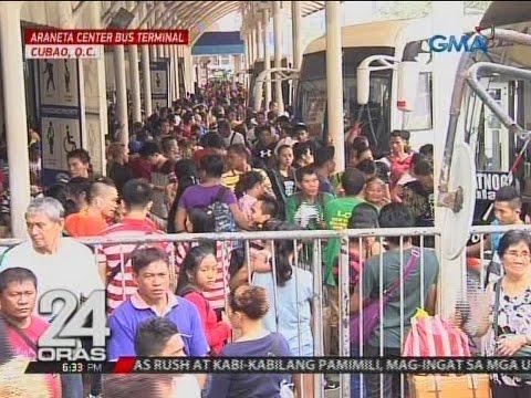24 Oras: Mga uuwi sa probinsya, dagsa sa mga bus terminal kahit nagkakaubusan na ng tickets