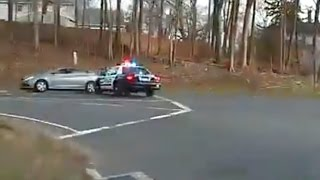 Epic Pit Ends Police Chase