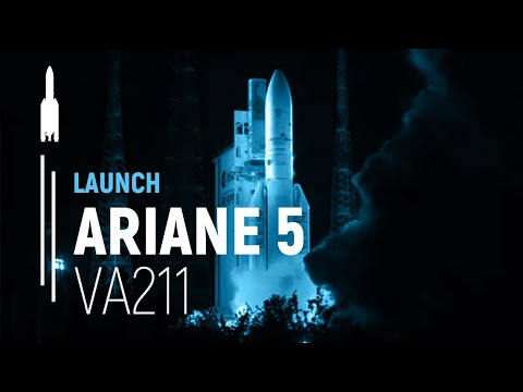 Arianespace Flight VA 211 / Skynet 5D and Mexsat Bicentenario satellites