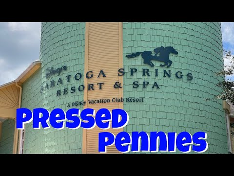 Disney's Saratoga Springs Resort & Spa Pressed Pennies 2017