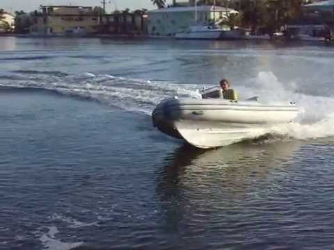 2007  Caribe Rib inflatable boat with a 90 HP  Yamaha outboard