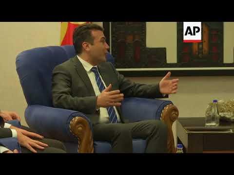 Macedonia's Zaev set to warm up ties with Greece, Kosovo