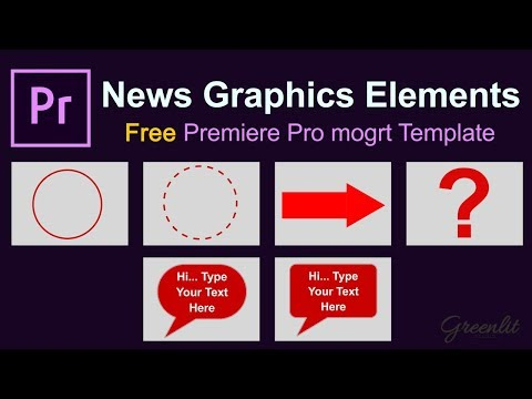 Premiere Pro Template L Broadcast News Graphic  Elements L Mogrt File Free Download