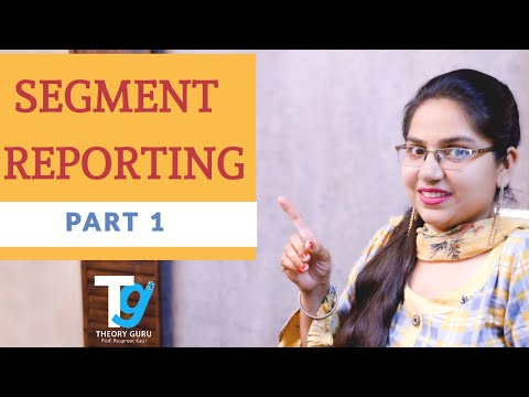 Segment Reporting    PART 1    Issues in financial reporting