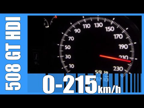 Peugeot 508 GT 2.0 HDI 180 HP 0-215 km/h GREAT! Acceleration