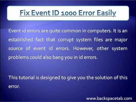 How To Fix Event ID 1000 Error