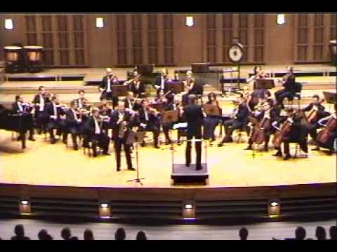 "P. Lukaszewski - ""Trinity concerto"" for alt saxophone and string orchestra, 1st Movement"
