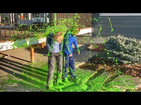 Cleaning Nickelodeon SLIME off my HOUSE!!!