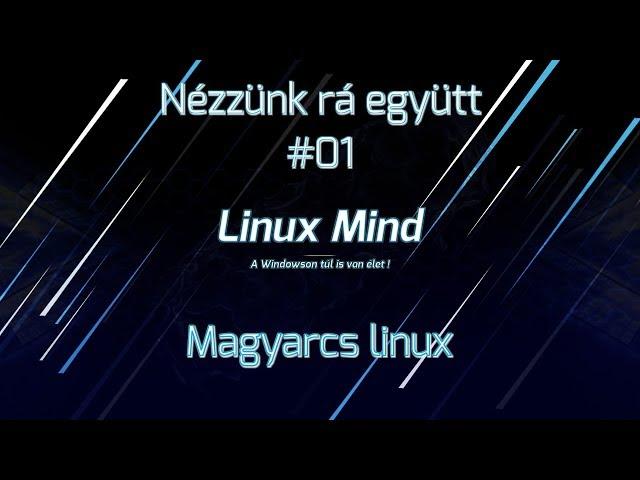 Nézzünk rá együtt #01 - Magyarcs linux
