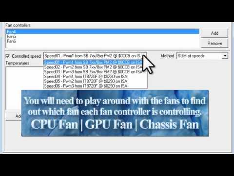 Control Fan Speeds With SpeedFan [Tutorial]