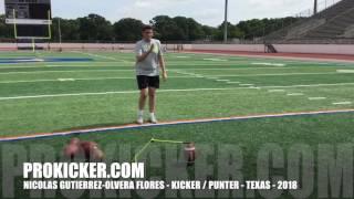 Nicolas Gutierrez Olvera Flores, Kicker Punter, Class of 2018
