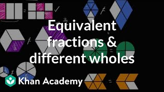 Equivalent Fractions And Different Wholes | Fractions | 4th Grade | Khan Academy